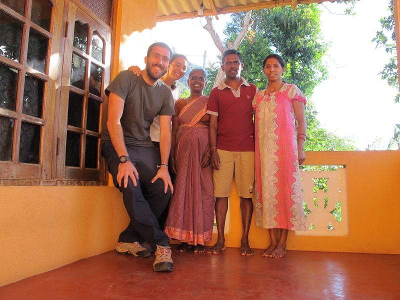 Familia local de Sri Lanka