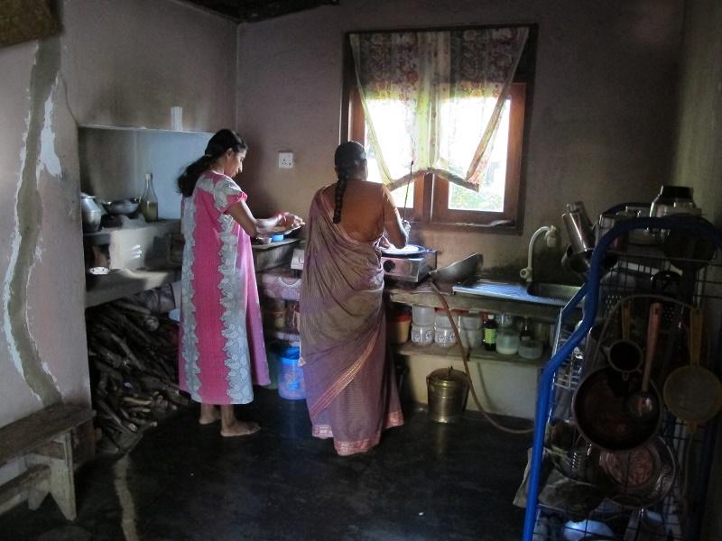 Familia local en Sri Lanka