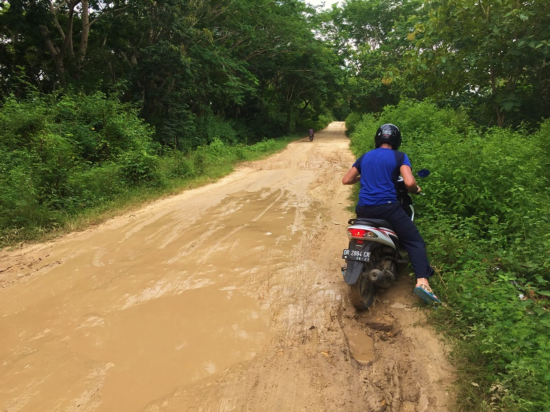 carretera para ir a Pink Beach, Lombok