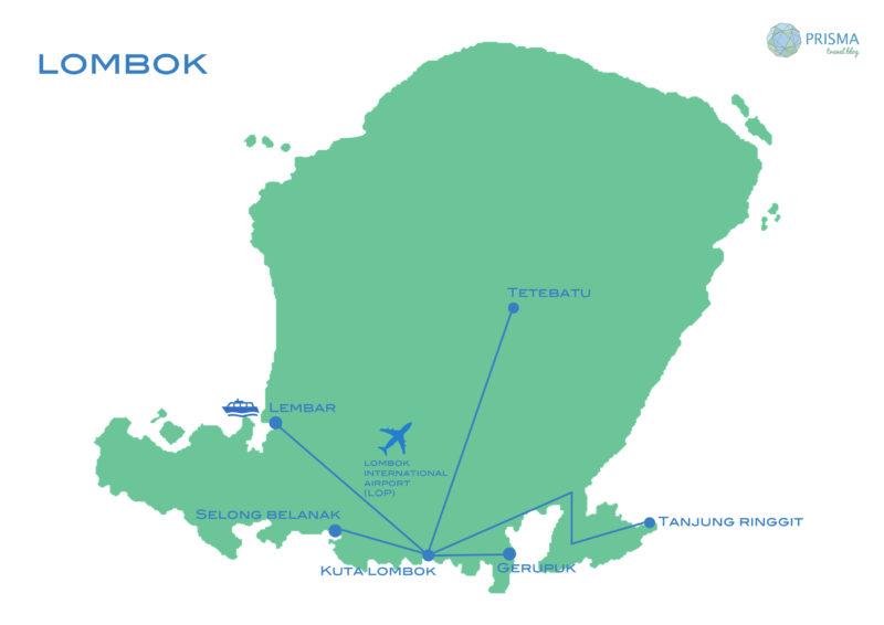mapa ruta Lombok
