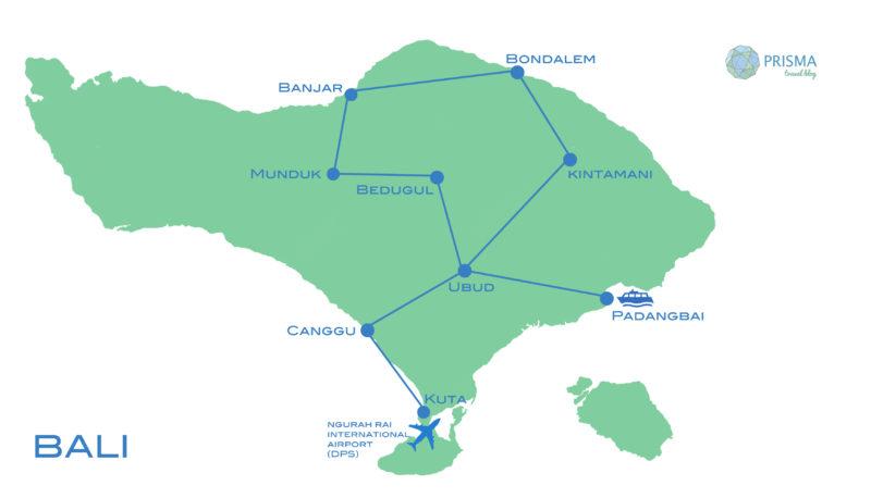 bali mapa ruta