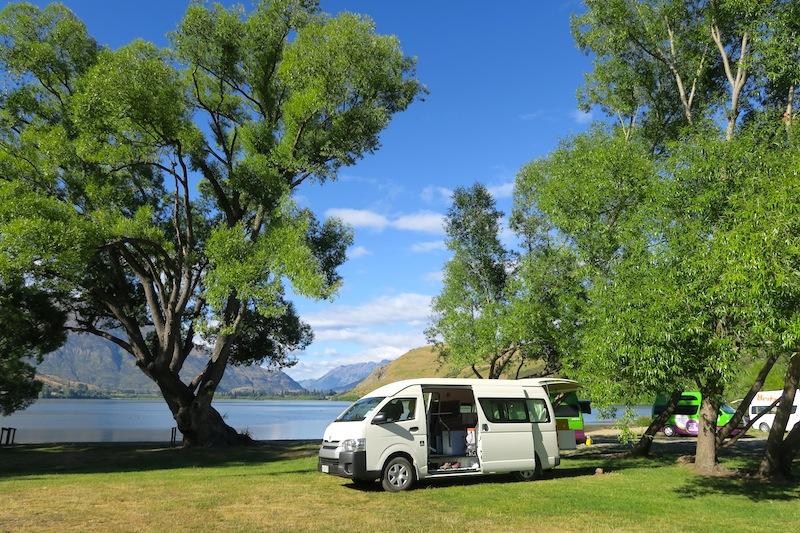 camping en lago Hayes