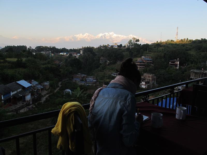 Vistas a los Annapurnas, Nepal