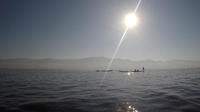 Empezando el día en el lago Inle